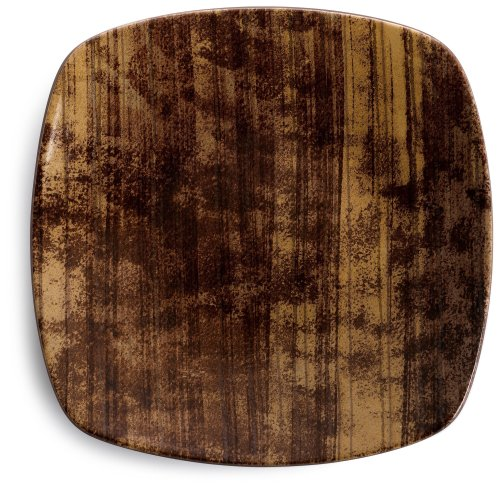 Cedar Elements Plate Square (Noritake Elements Cedar 8-1/4-Inch Square Salad Plate)