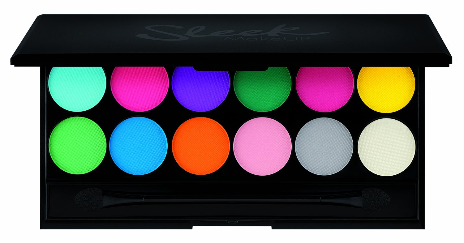 Sleek Make Up I-Divine 12pc Mineral Eyeshadow Palette V1 - Ultra Mattes Brights