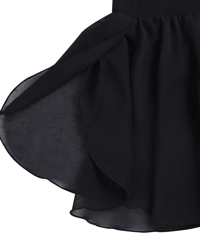 Yeahdor Kids Girls Basic Classic Ballet Dance Mini Wrap Skirt Chiffon Skirts with Tie Waist