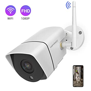 Security Camera Outdoor,Wandwoo 1080P Wireless WiFi IP Camera Support  Motion Detection with Real-Time Alert,Waterproof,Night Vision,Outside  Camera