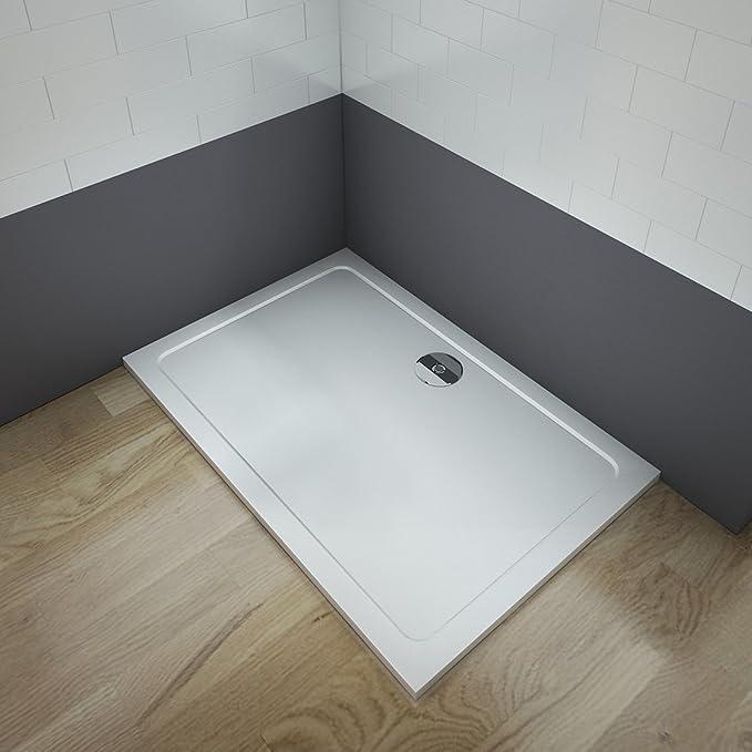 Plato de ducha 30mm cuadrado/rectangular piedra artificial revestimiento acrílico para mamaparas de baño (80x70x3cm): Amazon.es: Bricolaje y herramientas