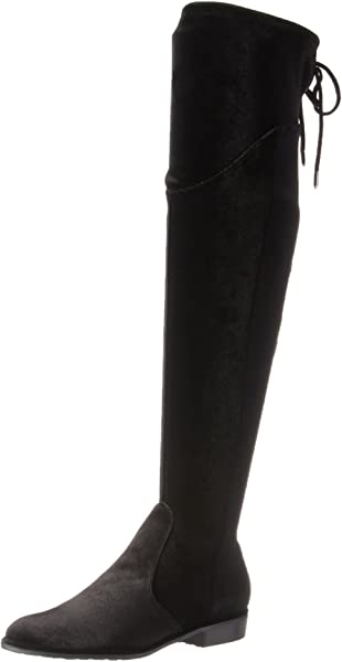 9212f997148 Marc Fisher Women s HULIE Over The Over The Knee Boot Black 973 6.5 Medium  US