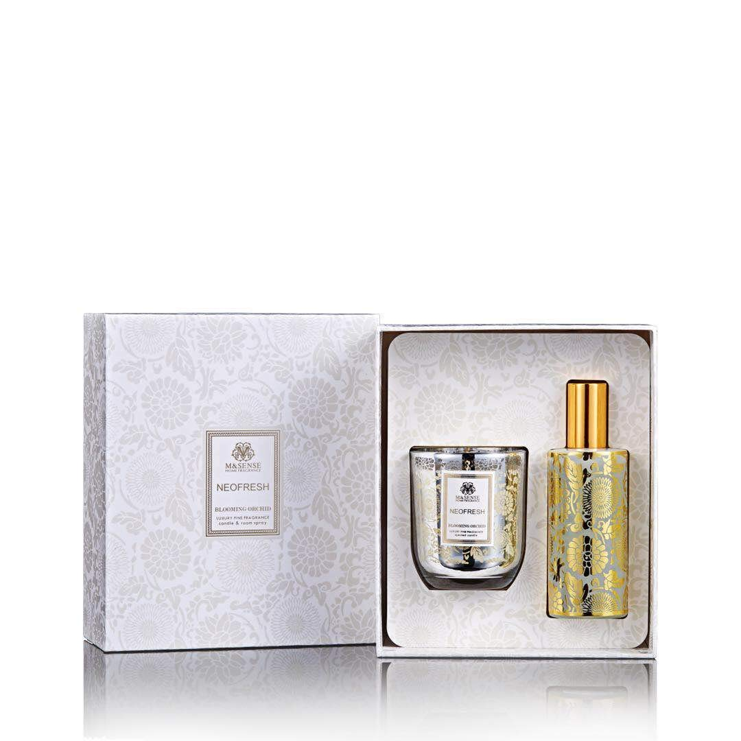 M&SENSE Luxury Fine Fragrance Candle Room Spray Sets (Aloe&Soft Lime)