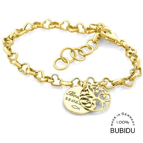 Taufgeschenk Mädchen Taufarmband Gold Armband 925