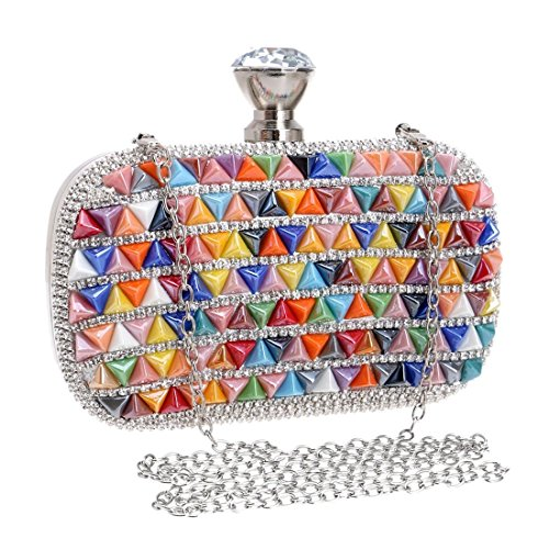 Color 1 Bride Banquet Multicolor Dress Handbag Clutch Bag Luxury Evening Purse Diamond KERVINFENDRIYUN Multicolor Ladies 1 Uxq8wYZTP