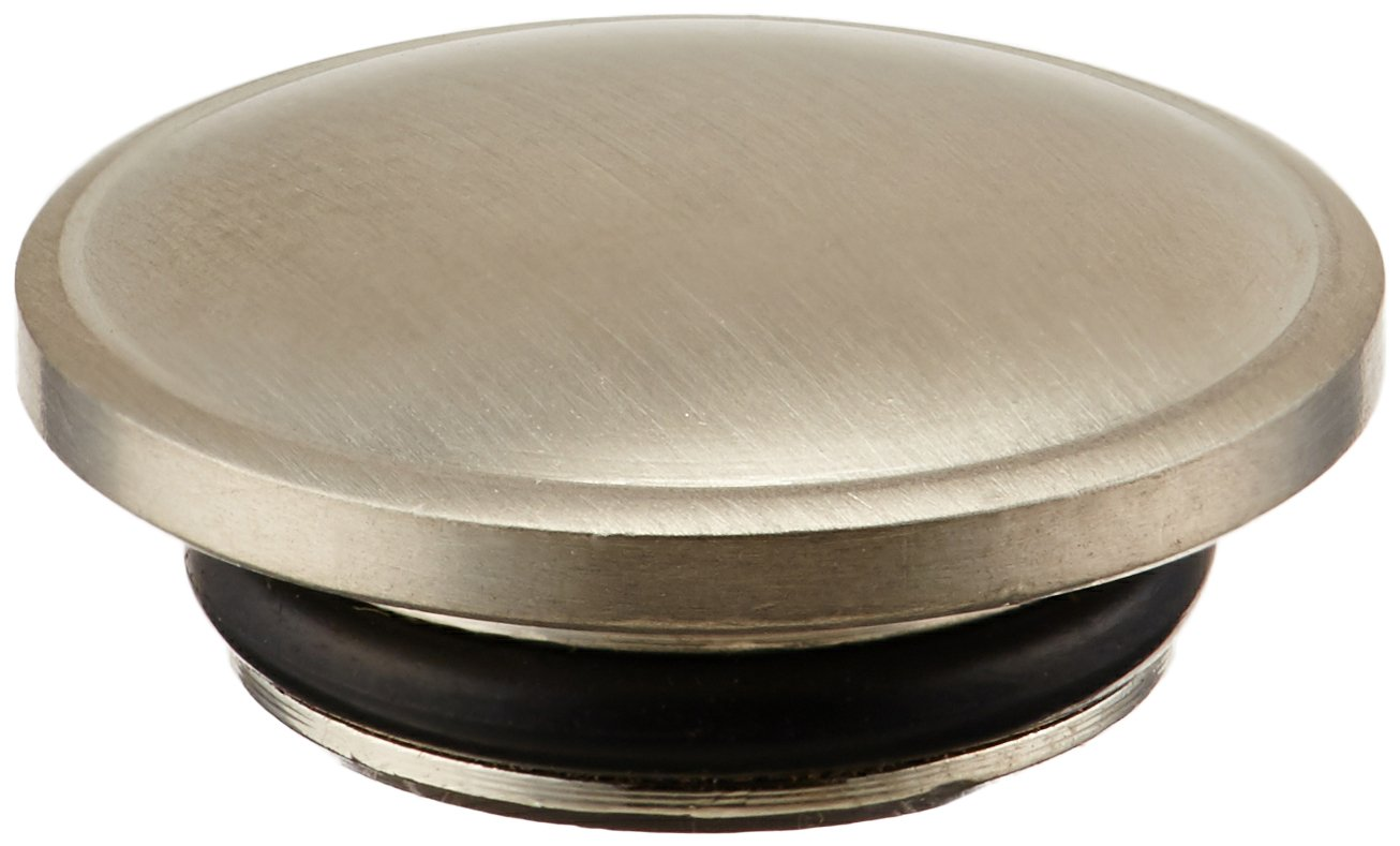 Rohl C7699P/1STN Country Kitchen and Country Bath Pressure Fit All Metal Screw Cover Cap Indice Only in Satin Nickel with Plain Blank Top No H or C to All