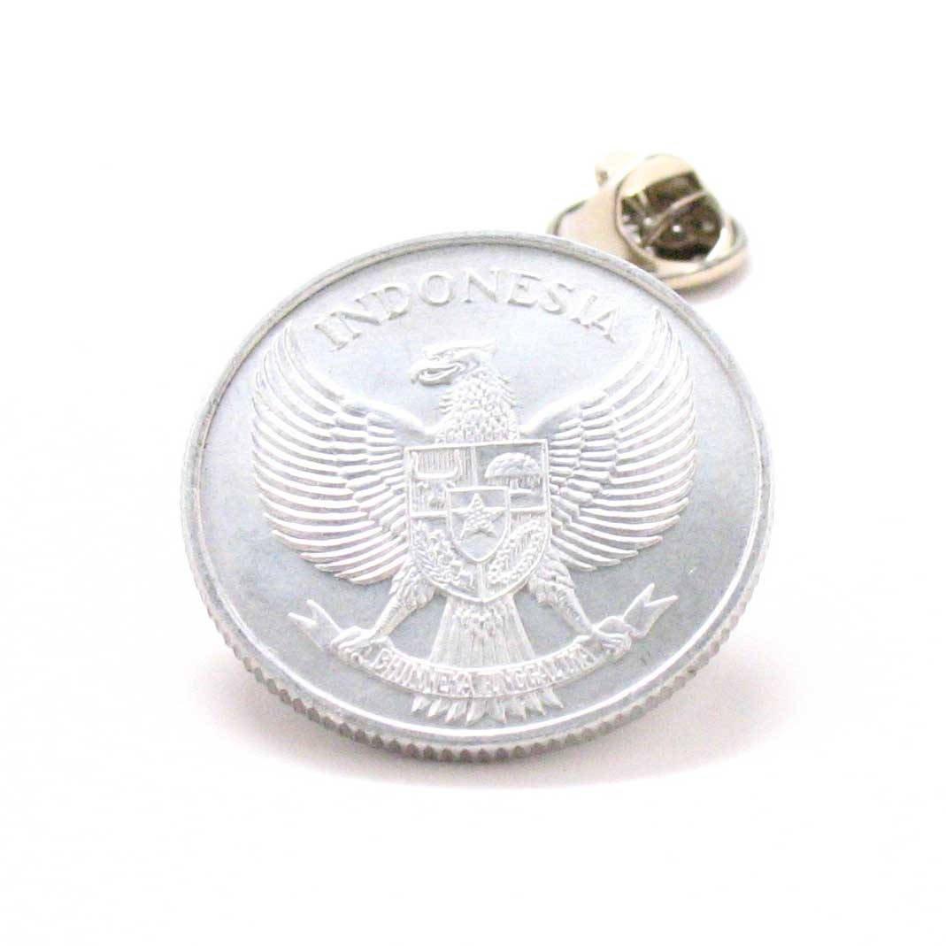 Indonesia Coin Tie Tack Lapel Pin Jakarta Surabaya Borobudur Tanah Taktik dasi bendera perhiasan Kerah