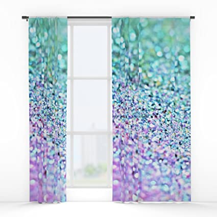 Society6 LITTLE MERMAID Window Curtains Double Panel