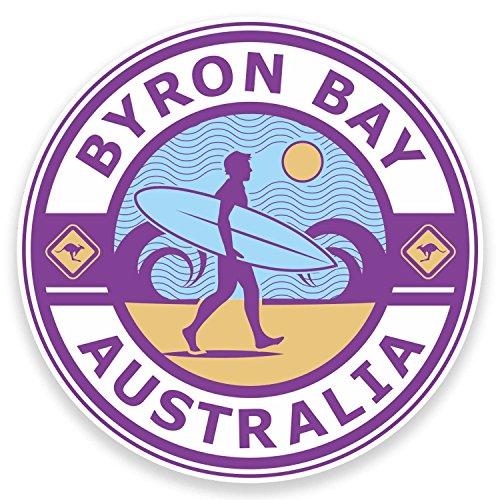Byron Bay Surf - 2 x 10cm Byron Bay Australia Vinyl Stickers