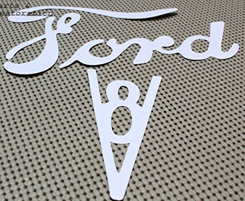 1935-1950 Ford Pickup Truck Paint Stencil Original Tailgate Lettering V8 & Non-V8 Logo Mask - 2pc - 1935 Pickup Ford