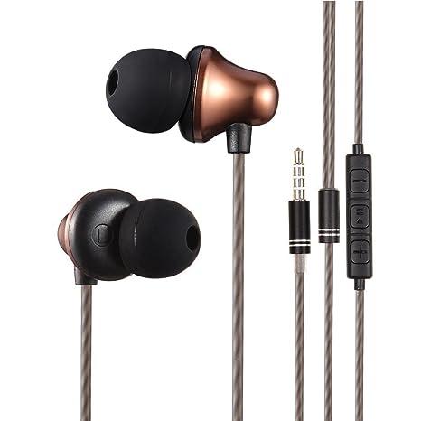 ad5e22472e7e82 Auricolari, FIGEMN Auricolari Cuffie In-Ear Stereo Universale, Cuffie con  Vivavoce Cuffie Moving