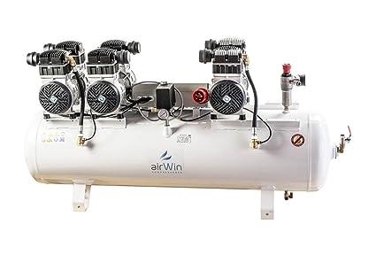 Airwin Silencioso unidad de aire comprimido Compresor sin aceite 1,5 + 1,5