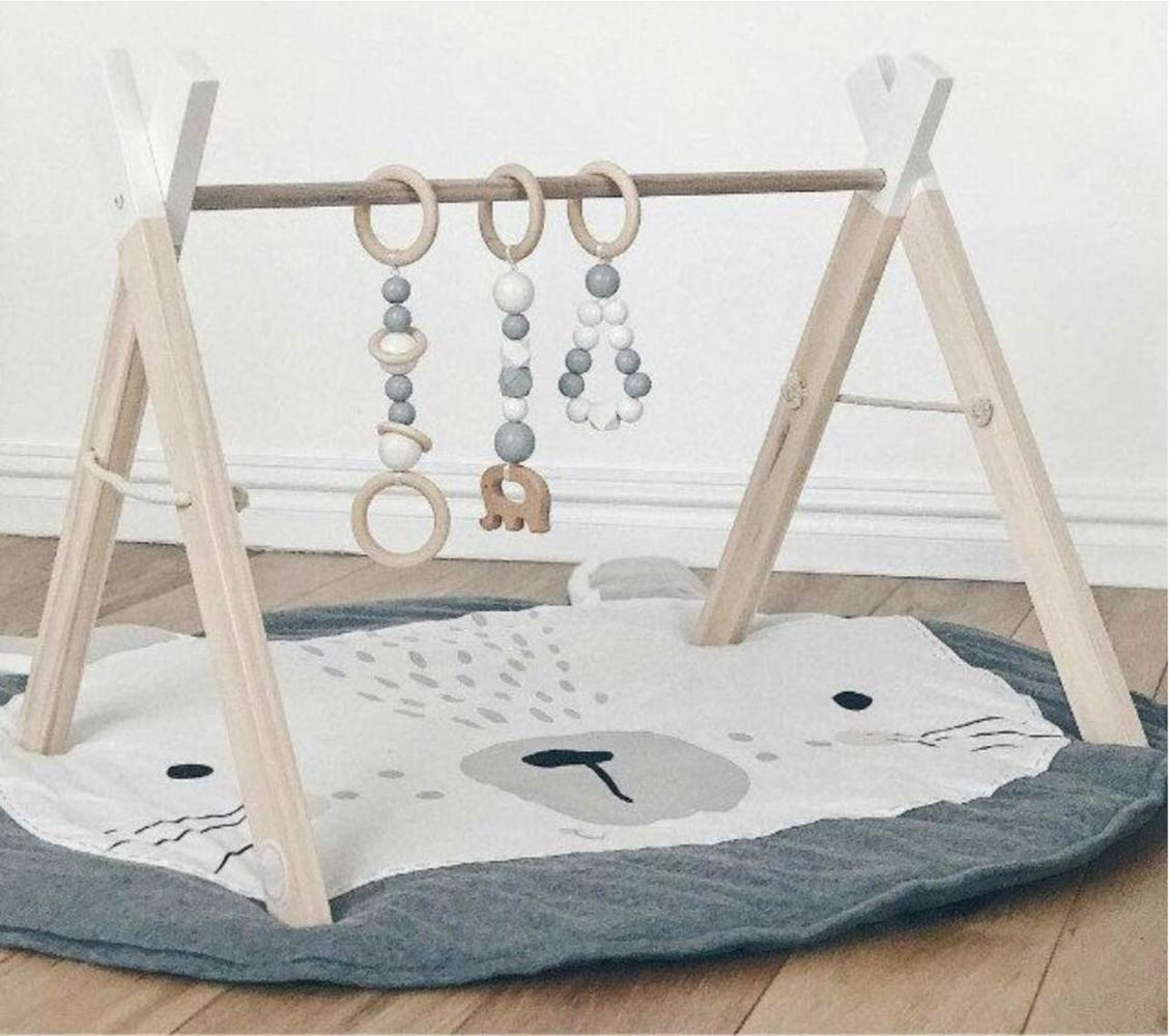 QXMEI Children's Baby Game Blanket Crawling Mat Cart is Decorated by The Room,Gray by QXMEI (Image #5)