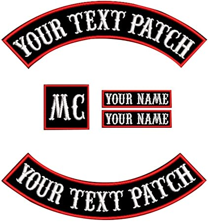 Embroidered Treasurer Red on Black Sew or Iron on Patch Biker Patch