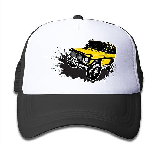 e0d9e2795b5 Amazon.com  Painted Yellow Jeep Car Boy s Cute Adjustable Mesh ...