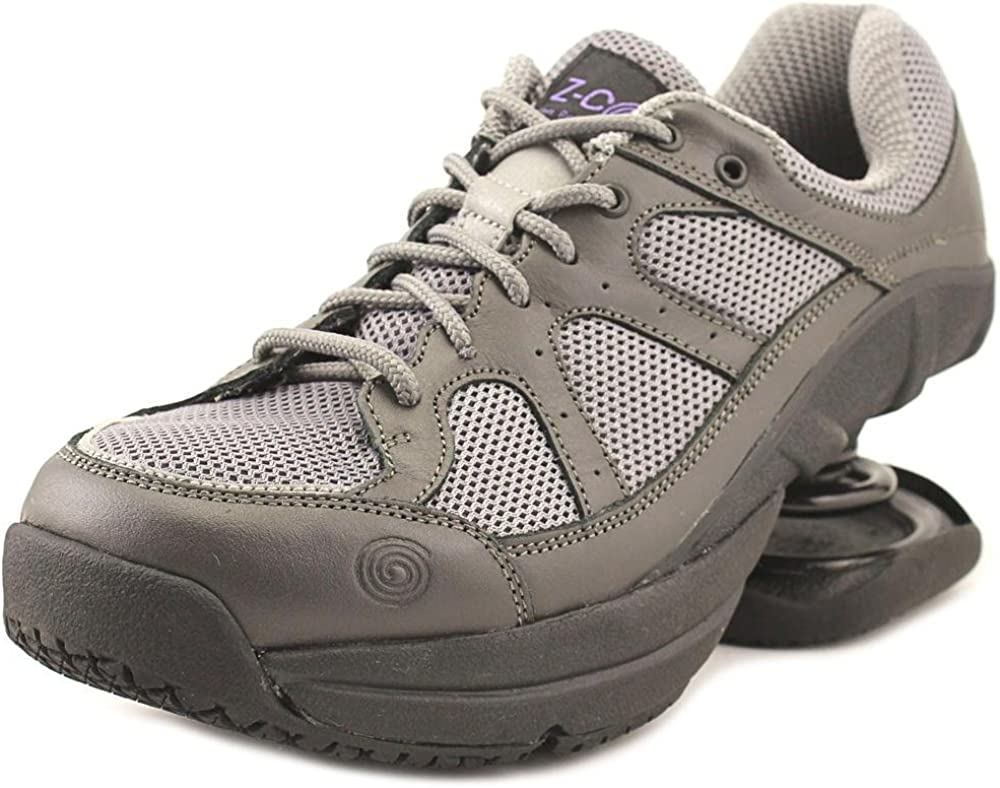 Z-CoiL Pain Relief Footwear Women's Liberty Slip Resistant Gray Leather Tennis Shoe