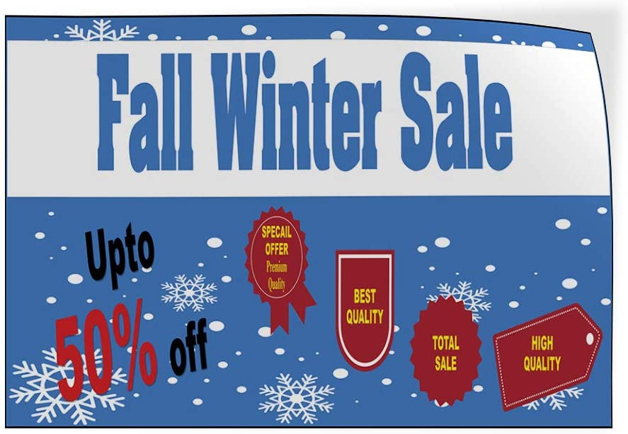 Custom Door Decals Vinyl Stickers Multiple Sizes Fall Winter Sale Blue Business Sale Outdoor Luggage /& Bumper Stickers for Cars Blue 58X38Inches 1 Sticker