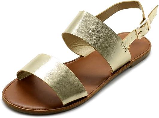 Ollio Women's Shoe Two Strap Sling Back