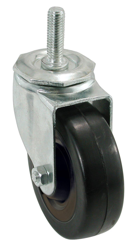 Shepherd Hardware 9024 5 Inch Soft Rubber Swivel Stem Caster 1 2 Inch Stem Diameter 225 lb Load Capacity