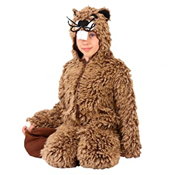 Krause & Sohn Traje de niño Castor 116-140 Disfraz de Animal de roedor de Felpa marrón General Carnaval (116)