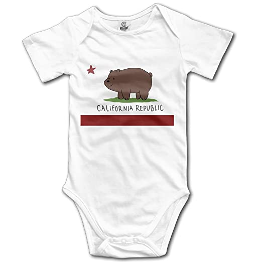 9facc98a6 Amazon.com  Funny Vintage Unisex CALIFORNIA Flag Bodysuit Baby-Boys ...