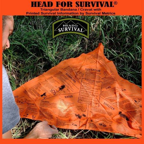 X-Large Orange Survival Metrics Mens METHSO-BRK Head for Survival Bandana