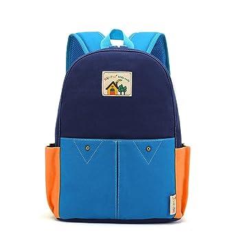 TOFERN Mochila escolar lienzo Retro ergonómica niña niño infantil guardería primaria Mochila de viaje ocio Color azul oscuro: Amazon.es: Hogar