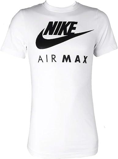 Nike Air Max - Camiseta de manga corta y cuello redondo, para hombre S-2 X L: Amazon.es: Ropa y accesorios