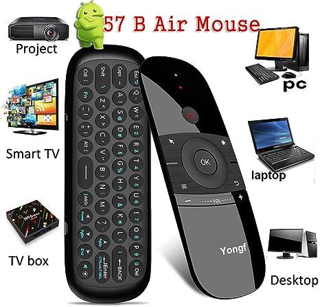 Ratón de aire, 57B 2.4G Fly Mouse inalámbrico Mini Teclado con ...