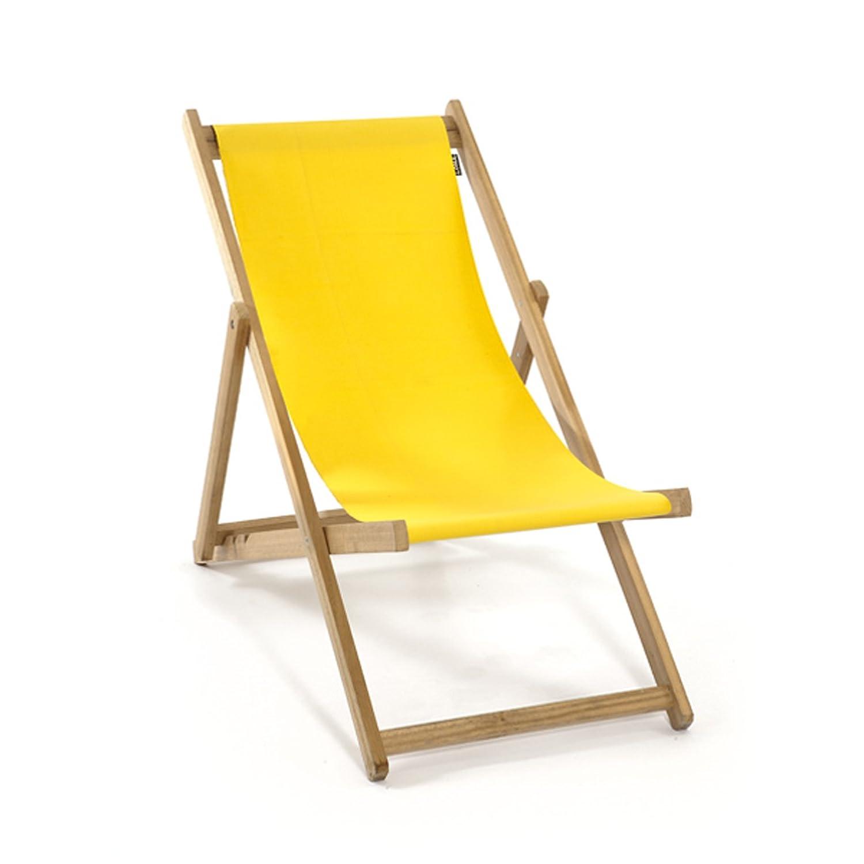 LONA 折りたたみ 木製 キッズビーチチェア イエロー 約48×62×H72cm B01C9PJD7Y イエロー