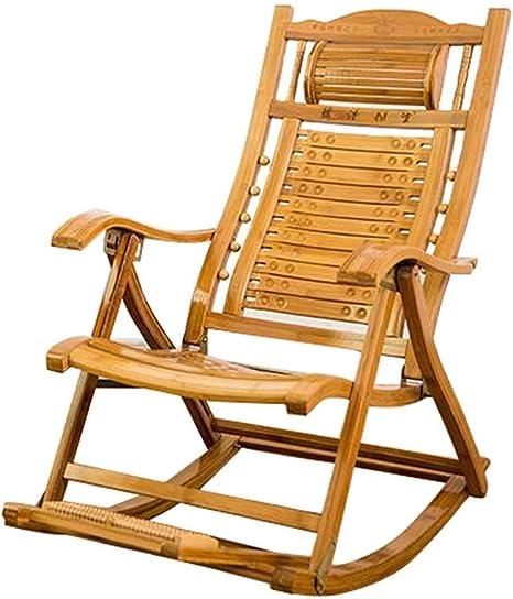 JHUEN Silla de jardín reclinable Silla Mecedora Plegable para Adultos Tumbona Tumbonas Ajustables Sillón de Descanso Sillón reclinable para Patio al Aire Libre: Amazon.es: Deportes y aire libre