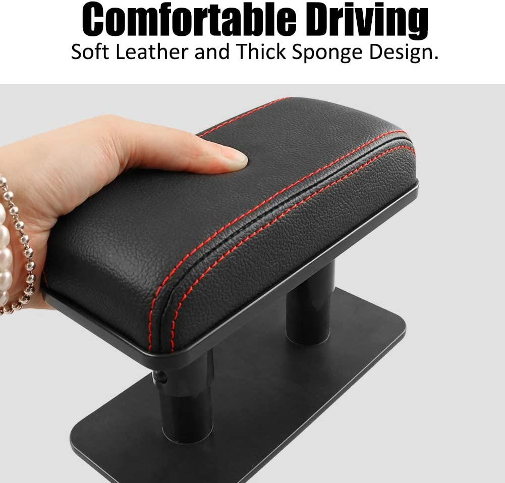 ulofpc Car Armrest Rest Pads Universal /â/€/‹Vehicle Truck Central and Side Adjustable Car Elbow Support Pads Car Armrest Increase Pad