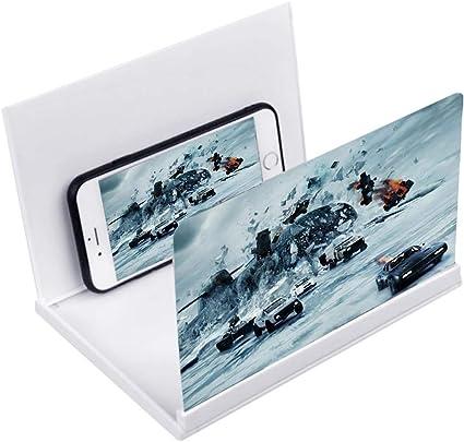 Kitchen-dream 8 Pulgadas Lupa de Pantalla para movil 3D HD Plegable Pantalla Amplificador Smartphone Proteger los Ojos ampliador de Pantalla Soporte de teléfonos para Todos los Smartphones: Amazon.es: Electrónica