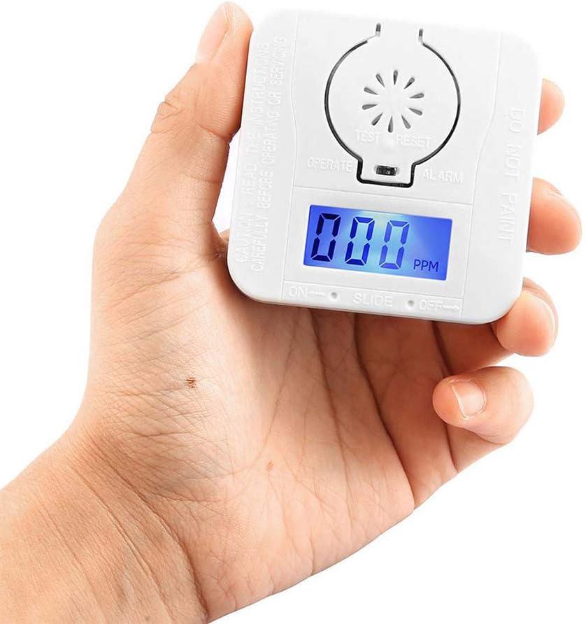 Gowsch alarma de gas t/óxico Detector de CO 1 pieza detector de humo de alta sensibilidad para el hogar pl/ástico