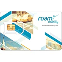 Roam Mobility USA Travel SIM Card for Unlimited Talk & Text + 4G LTE Roaming