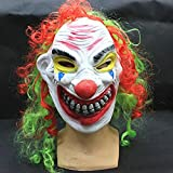 Pinji Clown Mask for Halloween Latex Creepy Cosplay Props Costume Masquerade Party Decoration