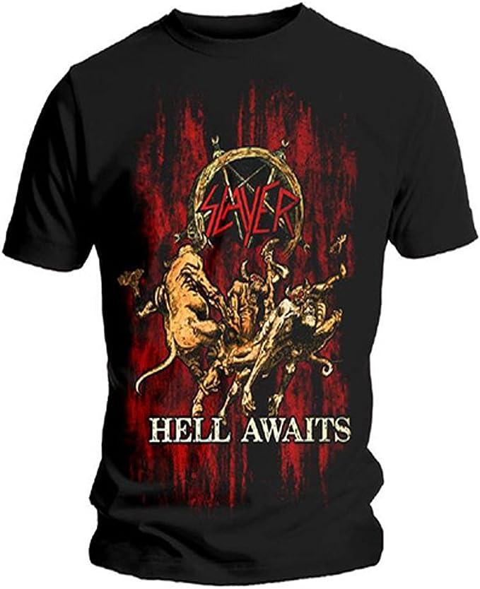 Slayer Hell Awaits Mens Black T Shirt New Official Band Music Adult