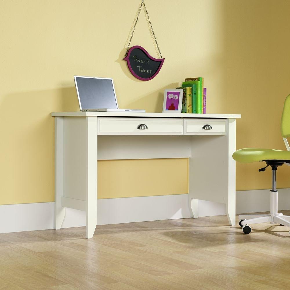 amazoncom sauder shoal creek computer desk soft white finish kitchen u0026 dining