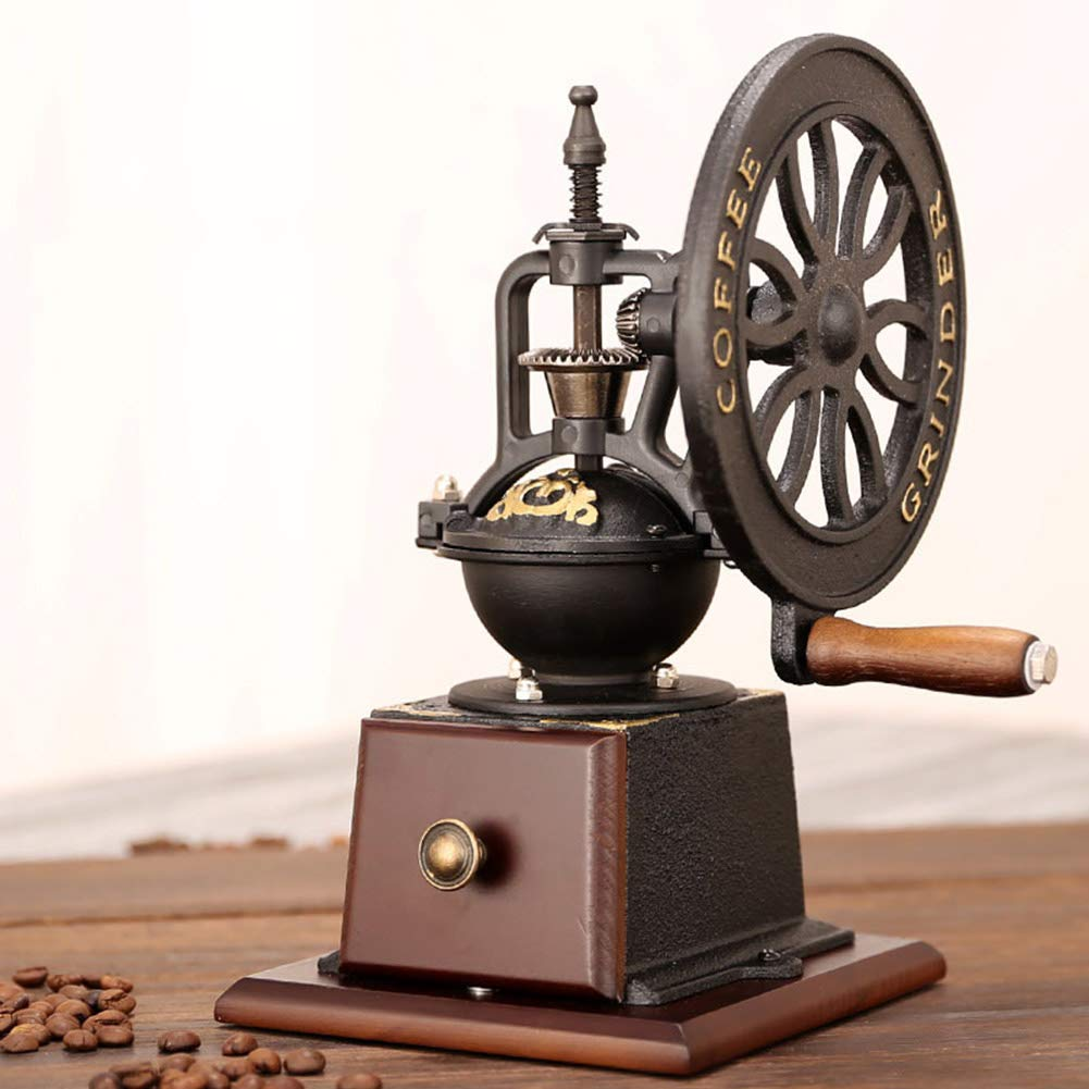 YJF Vintage Coffee Mill Grinder Manual Coffee Grinder with Adjustable Gear Setting and Stainless Steel Grinding Core