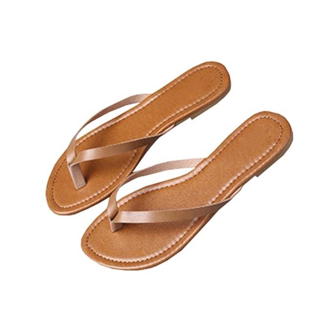 3c6bdca47819 Amazon.com: Seraih Womens Summer Slippers Black Flip Flops Thong Sandals:  Clothing