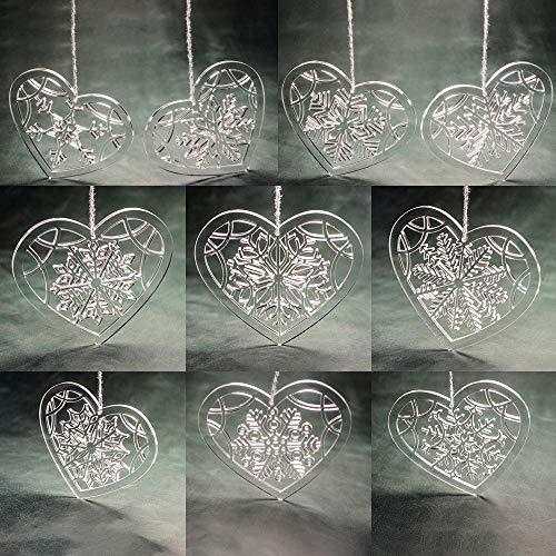 Set of Christmas Acrylic Snowflake - Christmas Tree Decoration - Clear Acrylic Snowflake Ornament - Laser Cut Snowflake - Acrylic Ornaments