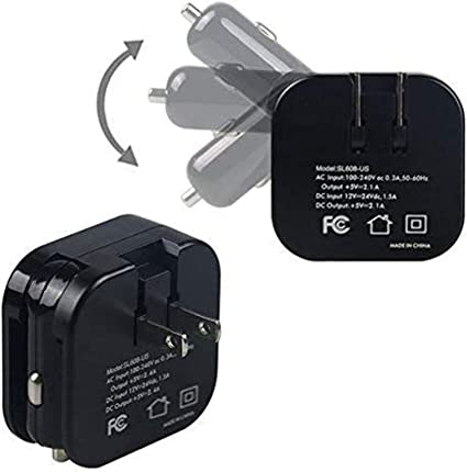 1x Universal Double USB Port Car Charger LED Adapter For Cell Phones 7cmx2.5cm