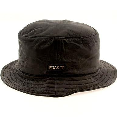 2242d6b4 HUF - Leather Fuck It Bucket Hat, Large/X-Large, Black: Amazon.co.uk ...
