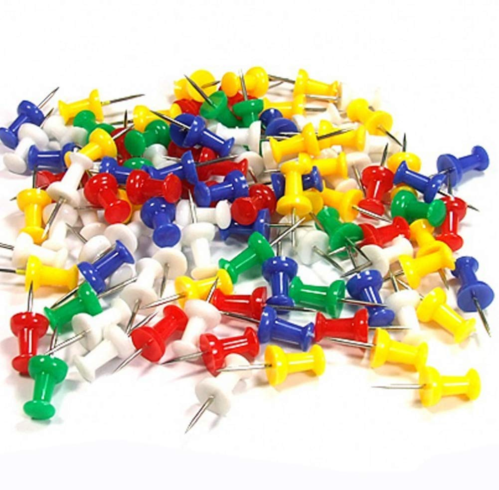 350 Pcs Multi-Colored Push Pins with Storage Case for Home & Office Decorative(35/Box)
