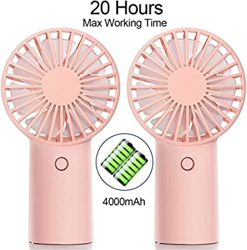 Portable Personal Fan Outdoor Jesir Mini Handheld Fan Battery Operated Travel Quiet Fan for Stroller 3-Speed USB Rechargeable Electric Fan with 4000mAh Battery Camping Powerful Airflow Office