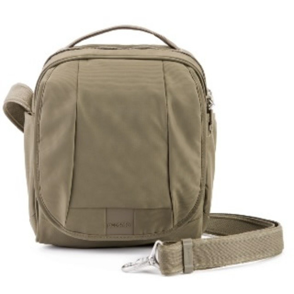 Pacsafe Metrosafe LS200 7 Liter Anti Theft Crossbody/Shoulder Bag - Fits 10 inch Tablet with RFID Blocking Pocket and Lockable Zippers for Women & Men (Sandstone)