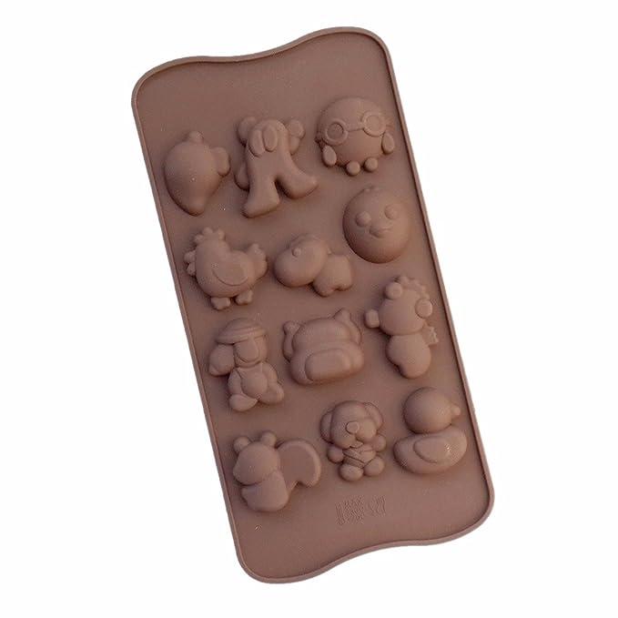 Snoopy perro de silicona molde de Chocolate de repostería casera molde para hornear galletas: Amazon.es: Hogar