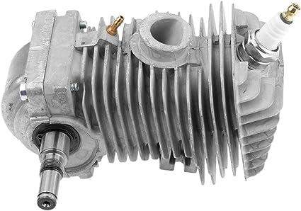 Tubayia Metall Motor Kolben Zylinder Zubehör Ersatzteil Für Stihl 023 025 Ms230 Ms250 Kettensäge Garten