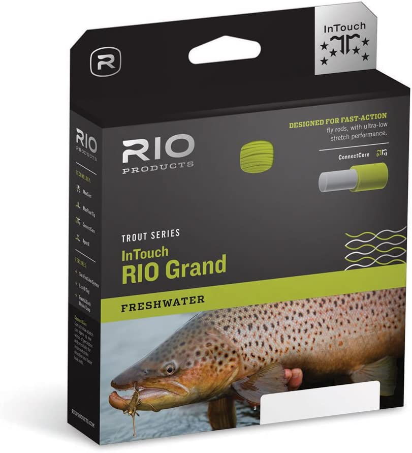 RIO Products Fly Line Intouch-Rio Grand Wf8F, Green-Gray-Yellow