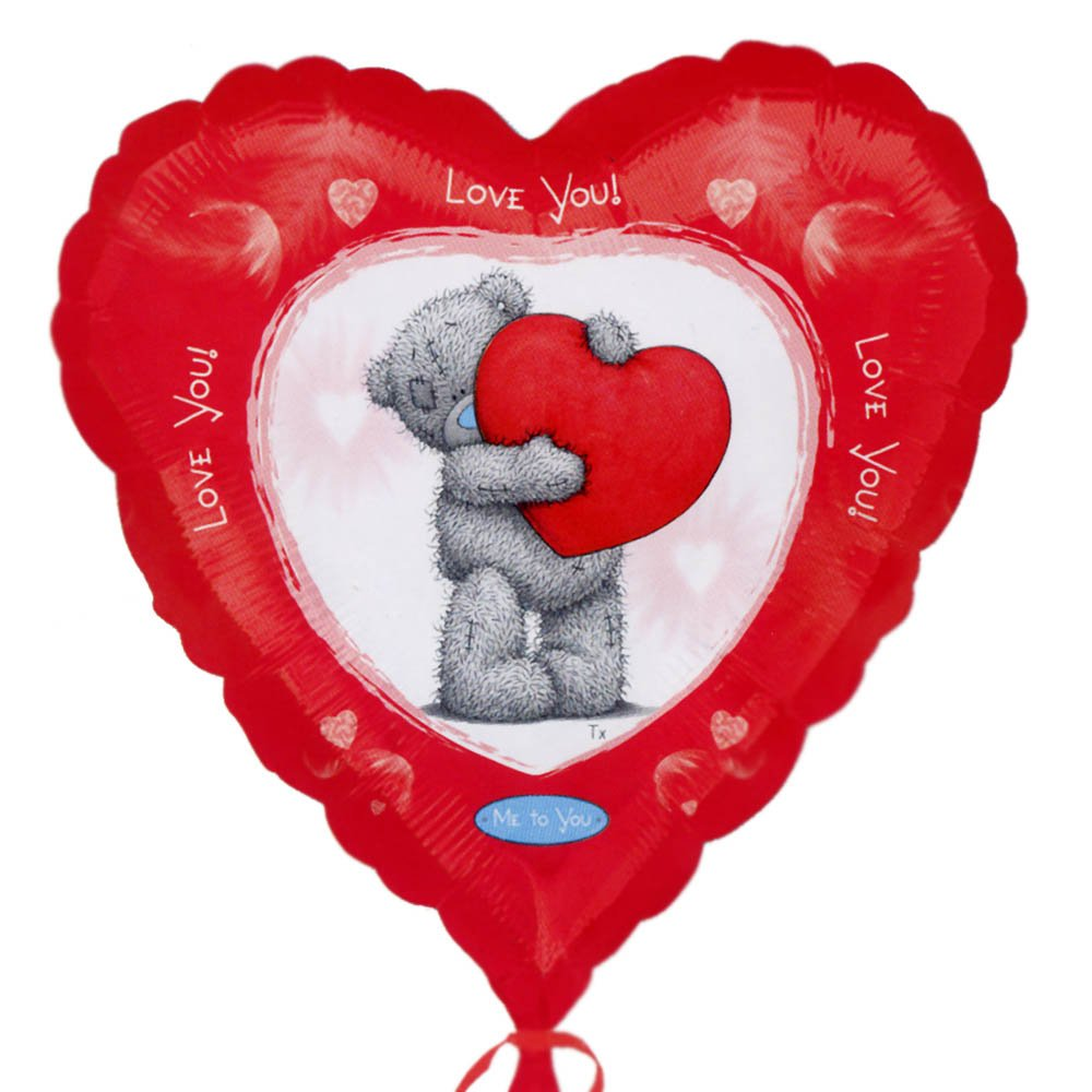 Ballon aluminium St Valentin LOVE YOU Me To You Tatty Teddy Coeur Rouge - 46cm